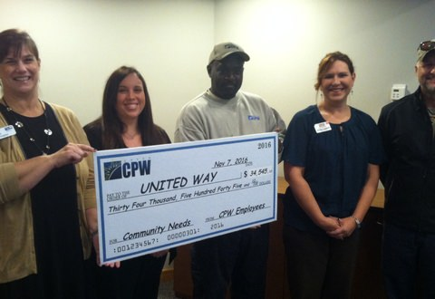 CPW Employees Raise the Bar, Raise Funds for United Way of Greenville County