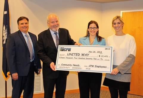 Greer CPW Employees Give Generously During United Way Campaign
